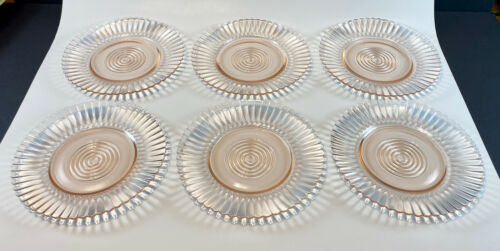 MacBeth Evans Pink Petalware Lot of 6 bread and butter plates
