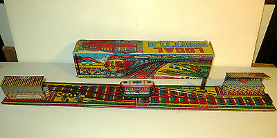 Local Shuttle Train - Vintage Indian Clockwork Tinplate