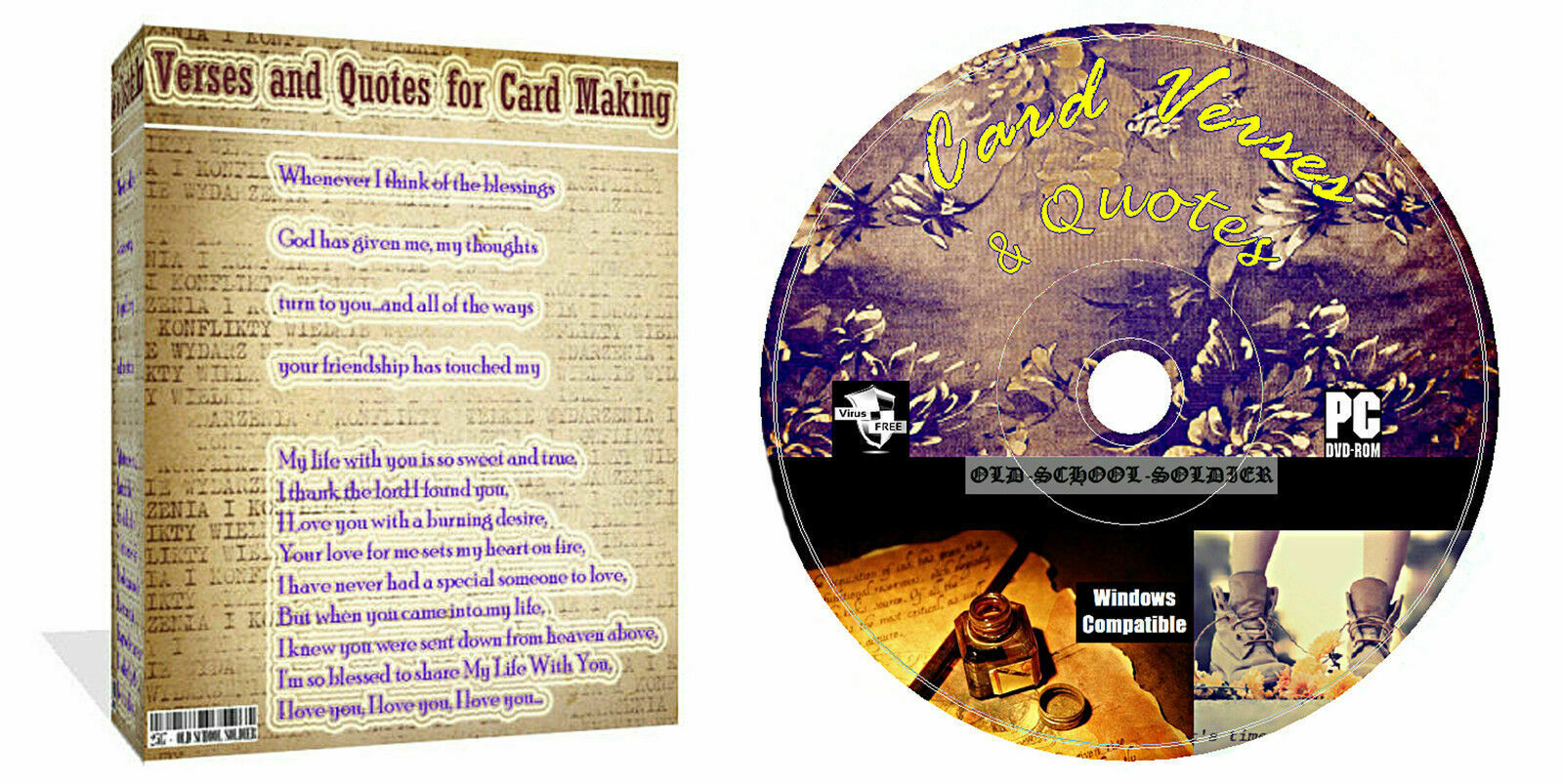 20000 Verses And Quotes CD Disk For Card Making Arts & Crafts + Decoupage Extra