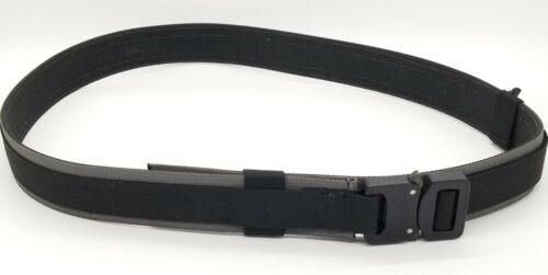 "ATS Tactical Gear Elite EDC Belt MEDIUM 32""-36"" Every Day Carry Black/Gray"