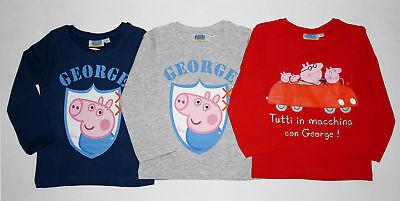 garmshirt Gr. 98-128 Set A Pullover Shirt langarm neu! (Peppa Pig-george)