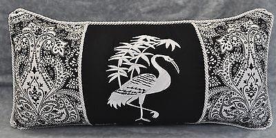 Подушка Embroidered Asian Bird Pillow made