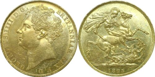 1823 Great Britain 2 Pounds (Sovereign) Gold Km# 690 Almost Uncirculated Details