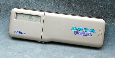 UNCOMMON 1999 TIGER 'DATA PAD' DOUBLE FOLD-OUT CALCULATOR, REMINDER, ETC