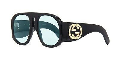 Gucci GG0152S Black/Light Blue (001 AU) (Gucci Light Blue)