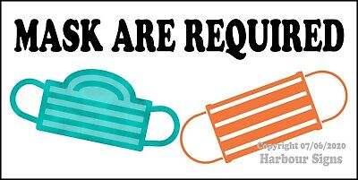 Mask Are Required Decal Choose The Size Food Truck Concession Sticker