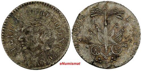 Haiti President A(lexandre) Petion Silver AN14 (1817) 25 Centimes KM# 15.1