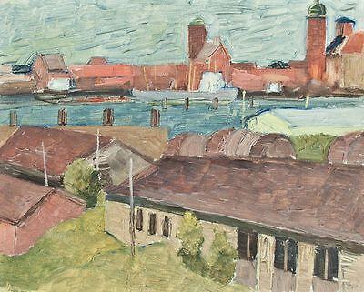 Sonja Wüsten - Stralsund - Temperamalerei auf Hartfaser - o. J.