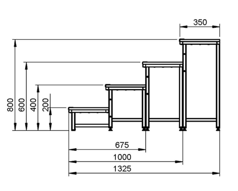 modulare treppe b hnentreppe treppenstufen anstelltreppe b hnenstufen eur 99 00. Black Bedroom Furniture Sets. Home Design Ideas