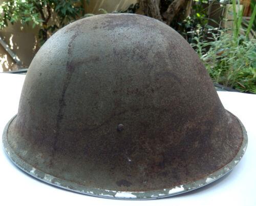 WW2 BRITISH ARMY TURTLE HELMET MKIII FFL D-DAY INVASION DATED 1944