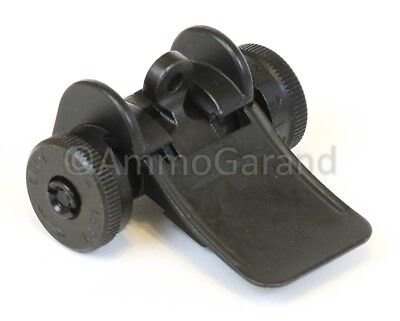 (M1 Garand Rear Sight Assembly - T105 YARDS Complete New Dark Park Finish)