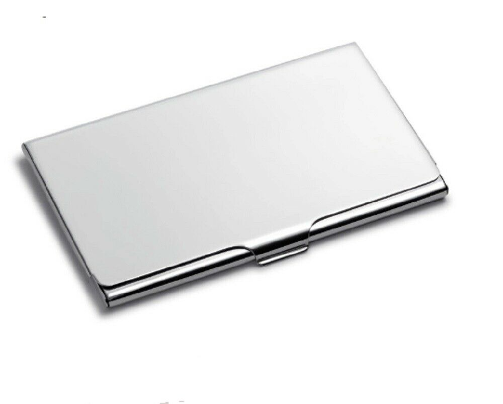 Pocket Stainless Steel & Metal Business Card Holder Case ID Credit Wallet US Clothing, Shoes & Accessories
