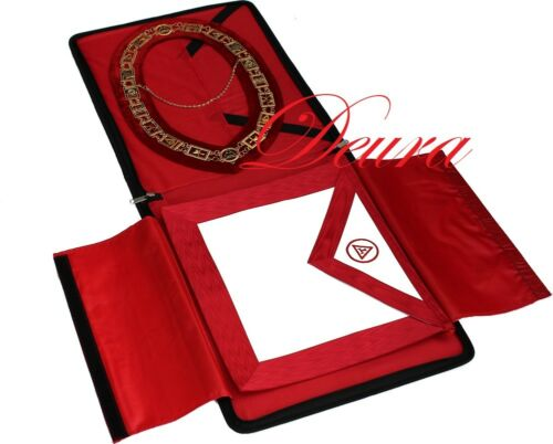 Royal Arch Masonic COLLAR // APRON // CASE Complete Package RA-3000