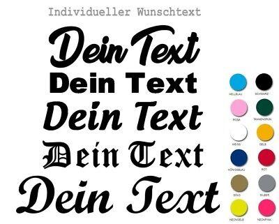 ★ Bügelbild Bügelbilder eigener Text Flex Folie Hotfix Name ABC Wunschtext D8 ★