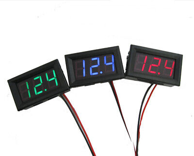 Dc 0-30v 3 Wire D Digital Display Panel Volt Meter Voltage Voltmeter Car-motoru