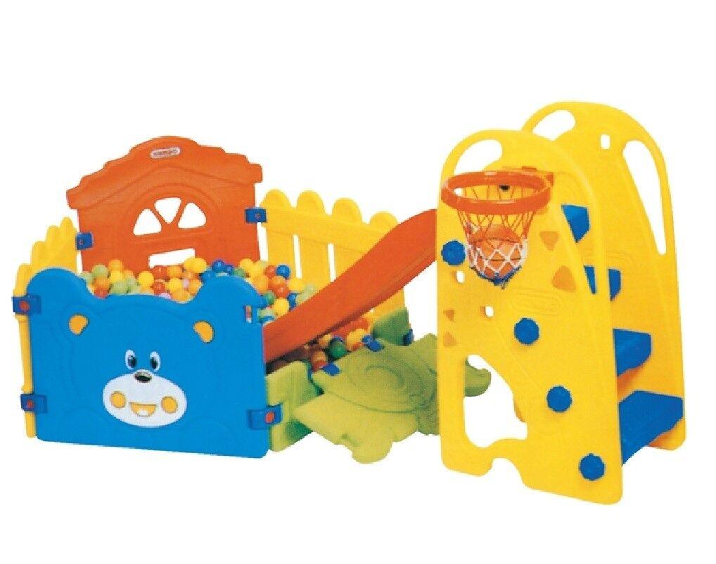 Scivolo con Recinto Piscina e 500 Palline per Bambini Esterno e Interno gioco014
