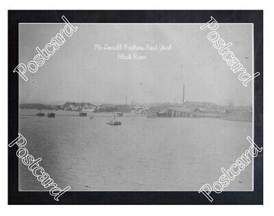 Historic Mc Donald Brothers Boat Yard  Black River Steamboat Postcard