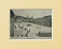 Loreto, Piazza Dei Galli. Ancona Marche.italia.xilo In Passpartout 1894 -  - ebay.it
