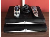 Sky + HD boxes x 2 numbers with remotes in good working conditions