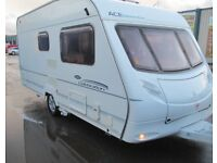 ace celebration 480 two berth touring caravan year 2005 fully equipped, great condition .