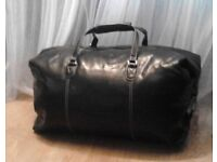 Black Large Next Duffel Travel Gym Weekender Holdall Bag.