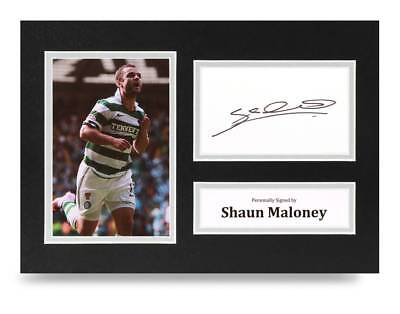 Shaun Maloney Signed A4 Photo Display Celtic Autograph Memorabilia + COA