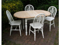 Ducal - Vintage - Solid Pine - Shabby Chic - Dining Table and Four Chairs