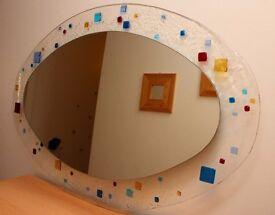 Elipsed mosaic horizontal art deco mirror 950mmx610mm