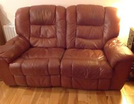 Tan leather sofa - Must go!