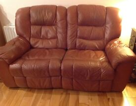 Tan Leather sofa, 2 seater - great condition only £75