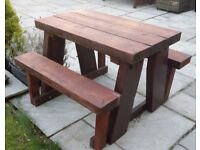 Good quality solid kiddies picnic table/bench