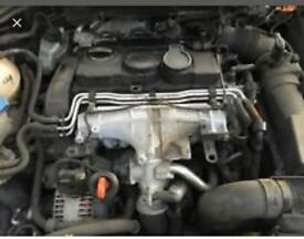 Vag 2.0tdi 16v Bmn 170bhp engine with gearbox and turbo compete breaking spares