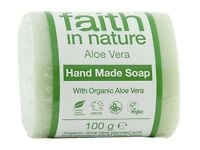 Faith in Nature Aloe Vera Pure Hand Made Soap Bar 100g