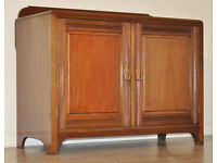 Attractive Antique Edwardian Panelled Mahogany Side Cabinet Small Cupboard