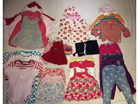 big bundle baby girl clothes 9-12 months over 30 items