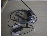 """Jabra GN2000 Duo Soundtube Office Headset with Jabra GN1200 Universal """"Smart"""" Cord"""