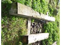 Beams - old rustic beams