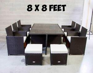 Outdoor Patio Furniture Dining Dinner Set - 6476998240 BRAND NEW SAME DAY DELIVERY