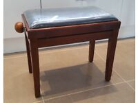 Wooden Mahogany Piano Stool Seat with Adjustable Height