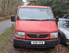 Vauxhall Movano, V reg, 2000, 2.5 5 SPEED DIESEL, Spares or repair, starts 1st time