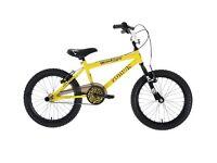 Zombie Boy's Skullz BMX Bike - Yellow/Black, 6-8 Years