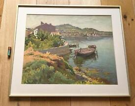 Vintage Colour Print Provence France Framed & Glazed After Ponchin