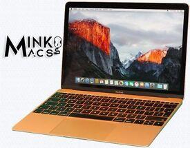"""12"""" Retina Latest Gold Apple Macbook Retina 1.1Ghz 8Gb Ram 250GB SSD FL Studio 11 Reason Logic Pro X"""