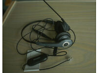 """BARGAIN - Jabra GN2000 Duo Soundtube Office Headset with Jabra GN1200 Universal """"Smart"""" Cord"""