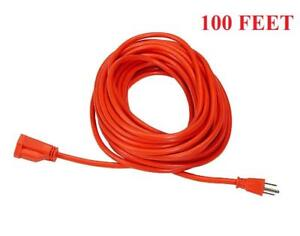 100 Feet Outdoor Heavy Duty Power Extension Cord - 3-Wire Grounded - Ship