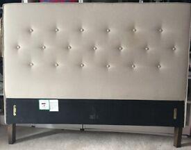 Clean Fabric Headboard- Double 5 Feet in Width Smoke Free Home £30