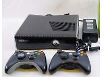 Xbox 360 250gb HD with Controllers and Cables