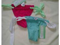 New Brasilian curtain bikini bottoms (with tags)