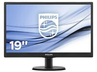 Three month old Philips 193V5LSB2 18.5 inch V-Line LED Display Monitor for £60