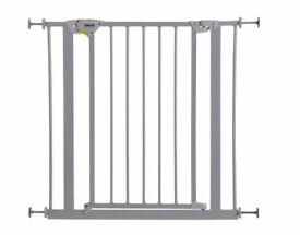 Hauck Trigger Lock Pressure Fix Safety Gate - Metallic